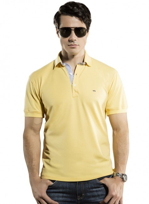 camisa polo amarela richard