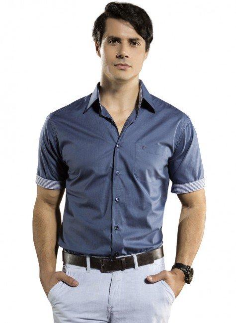 camisa lisa manga curta buon giorno lius gustavo