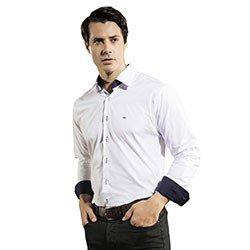 camisa masculina slim branca ronald