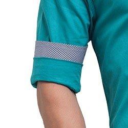 camisa buon giorno azul turqueza joao