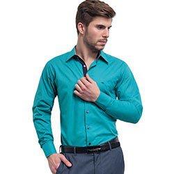 camisa soaicl masculina turquesa joao