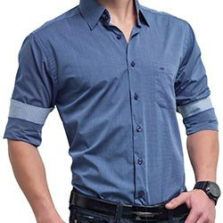 camisa masculina azul jeans nicolas