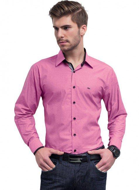 camisa social masculina rosa buon giorno hugo