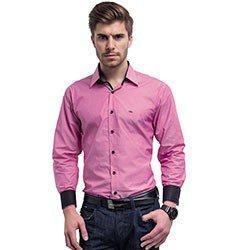 camisa social slim fit rosa buon giorno hugo