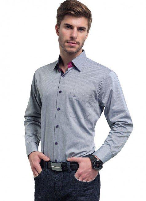 camisa social cinza buon giorno wellington