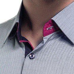 camisa masculina buon giorno social cinza wellington