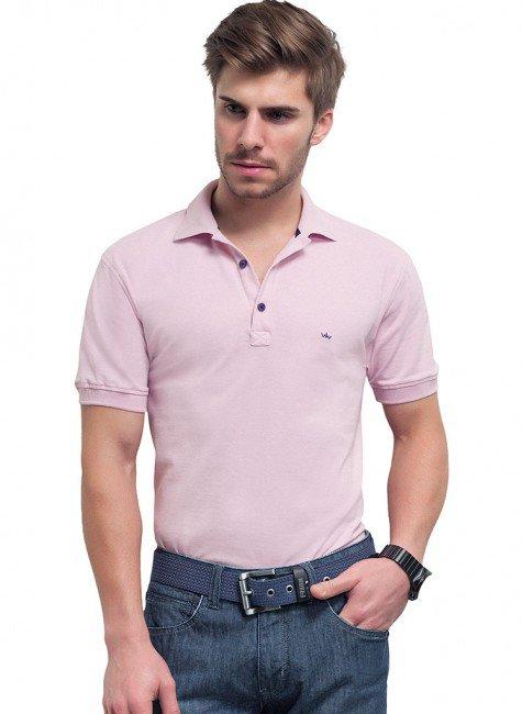 polo rosa masculina buon giorno thiago