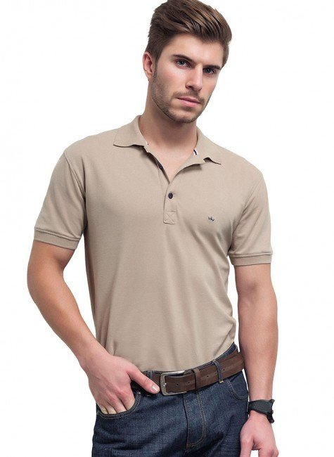camisa polo masculina bege eduardo