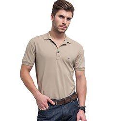 camisa polo masculina bege buon giorno eduardo