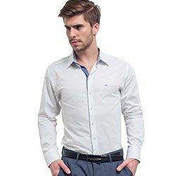 camisa social branca masculina buon giorno lucas