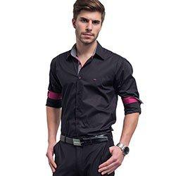 camisa preta buon giorno slim miguel