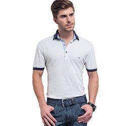 camisa polo masculina branca pedro