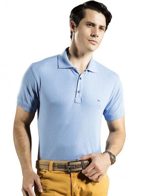 camisa polo masculina azul buon giorno allan