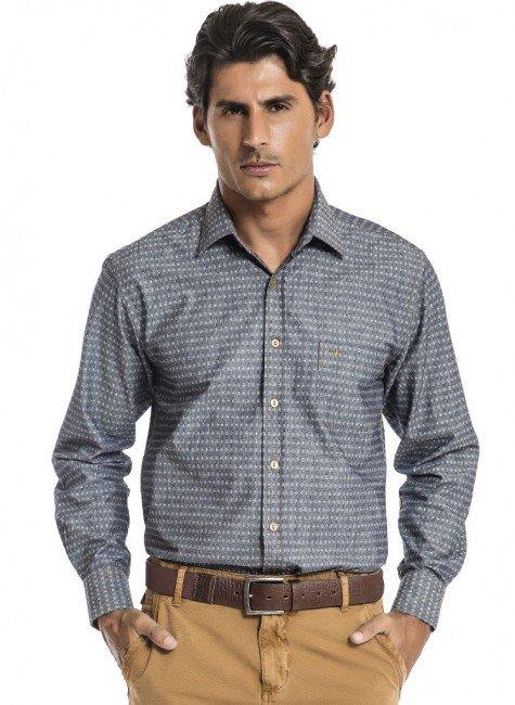 camisa jeans maquinetada buon giorno henrique