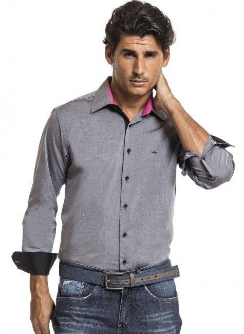 camisa social cinza buon giorno fabio