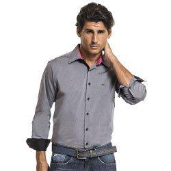 camisa cinza social buon giorno fabio