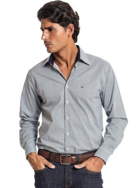 camisa slim estampada masculina buon giorno rodrigo