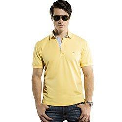 camisa polo masculina amarela richard