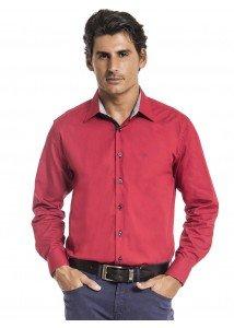 camisa social vermelha masculina buon giorno roger