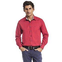 camisa masculina social vermelha roger