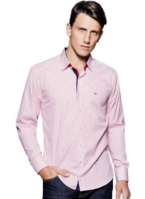 camisa listrada masculina social buon giorno ferricio