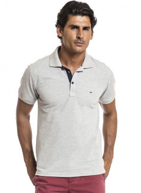 camisa polo masculina cinza buon giorno cristiano