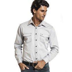 camisa masculina jeans buon giorno roberto