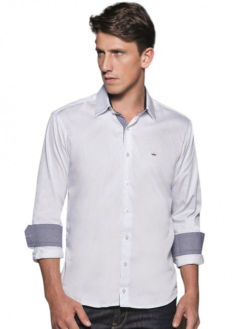 camisa masculina branca buon giorno lazzaro