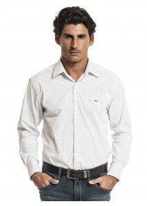 camisa masculina de poa buon giorno slim cassiano