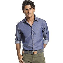 camisa jeans slim buon giorno arthur