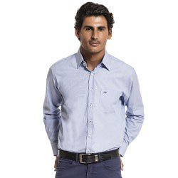 camisa social azul manga longa buon giorno matheus