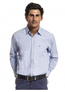 camisa manga longa azul social buon giorno matheus