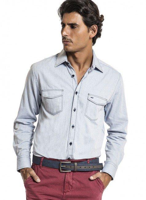 camisa com 2 bolsos buon giorno augusto
