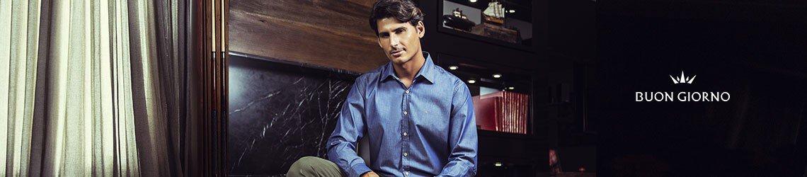 camisasocial masculina buon giorno slim arthur