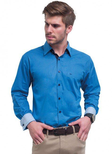 camisa masculina azul royal buon giorno davi