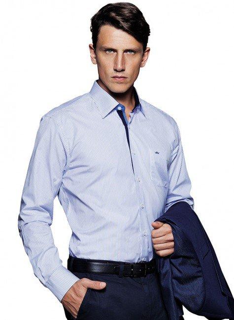 camisa social listrada casual buon giorno fabrizio