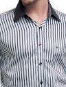 camisa masculina listrada preta buon giorno samuel