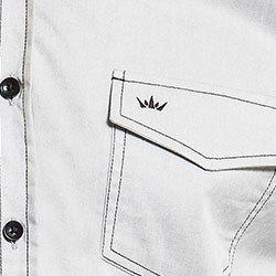 camisa masculina buon giorno costura contrastante roberto