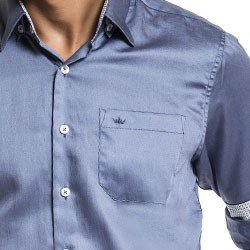 camisa masculina social acetinada buon giorno jonathan