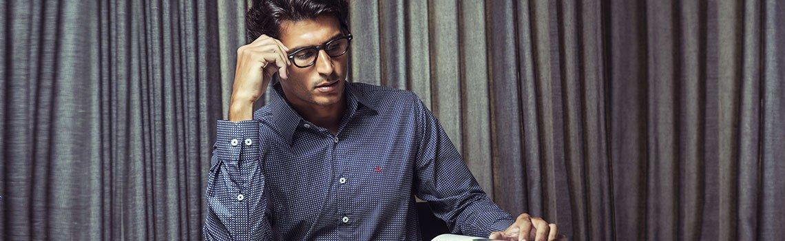 camisa social com estampa gravataria buon giorno