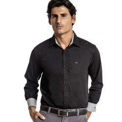 camisa social preta maicon