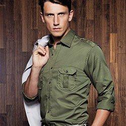 camisa slim verde militar giuseppe