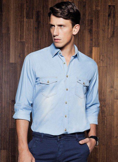 camisa jeans buon giorno giovanni
