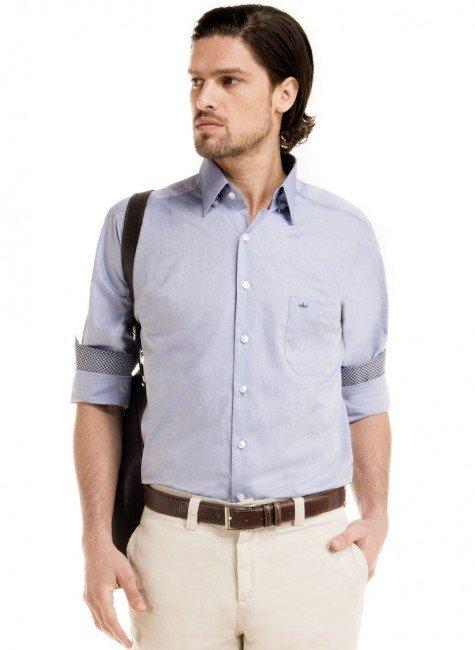 camisa social azul claro buon giorno frederick