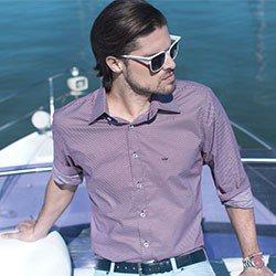 camisa estampada gravataria buon giorno george