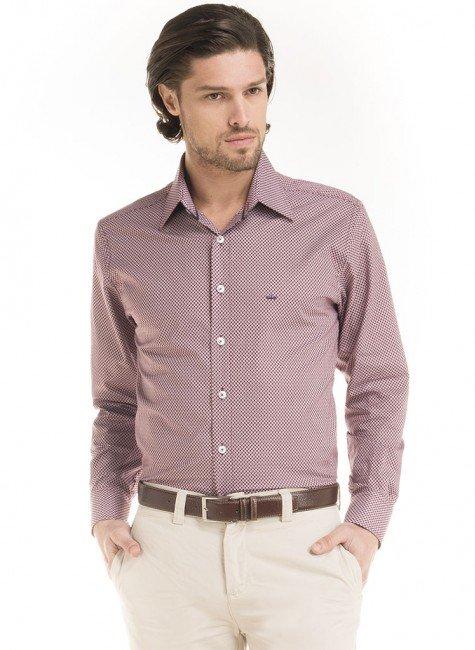 camisa estampada gravataria buogiorno george