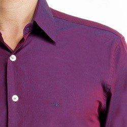detalhe camisa masculina social manga longa mauro colarinho
