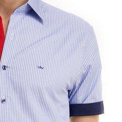 detalhe camisa manga curta masculina buon giorno cleiton tecido