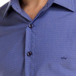 camisa social masculina buon giorno larte tecido detalhr