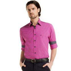 camisa social masculino violeta giorgi detalhe look